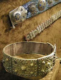 Kazakh antique jewelry - belts