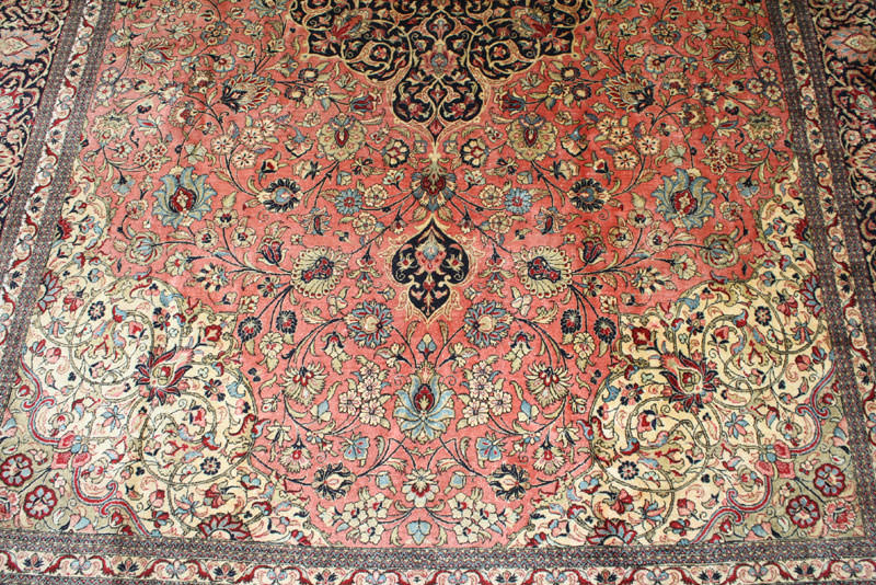 Antique Qum - Silk Persian Rug #17124 by Rahmanan - YouTube